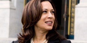 Promotional photo of Kamala Devi Harris as she filed her initial paperwork at city hall for her 2010 run for CA Attorney General.