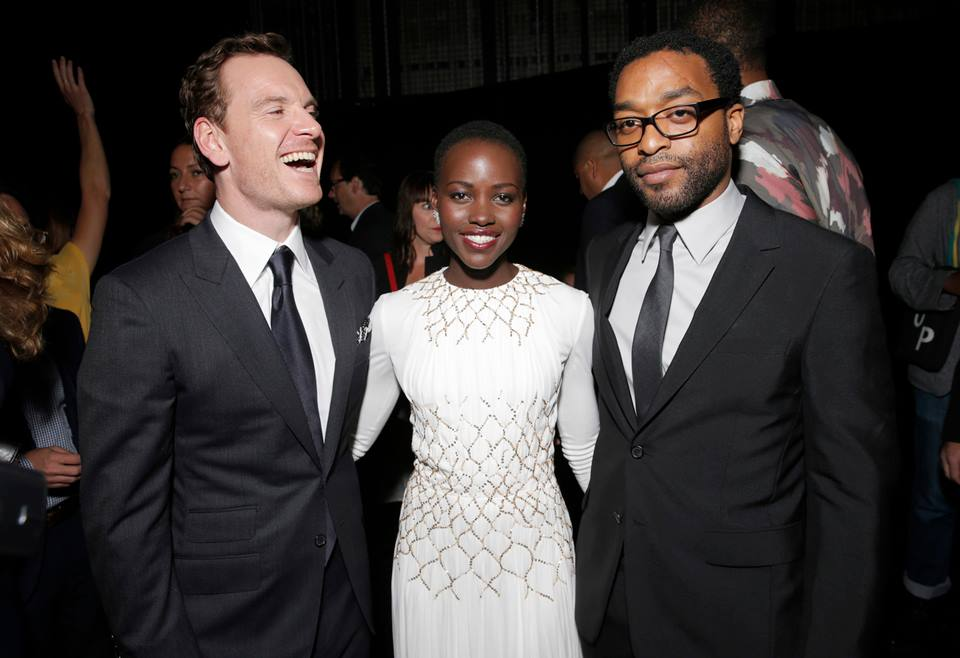 Michael Fassbender, Lupita Nyong'o and Chiwetel Ejiofora at the Toronto Film Festival
