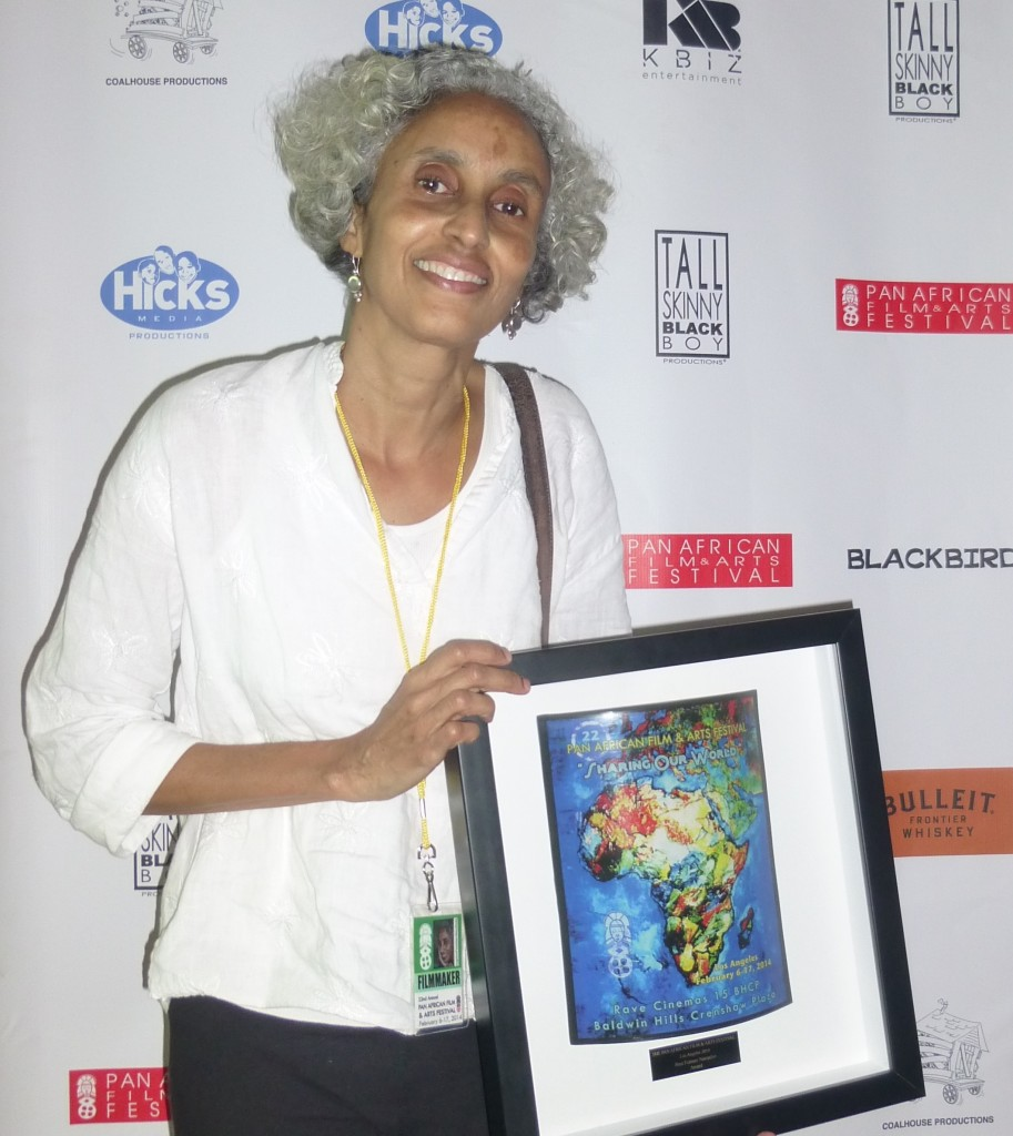 Mary Wells with Award