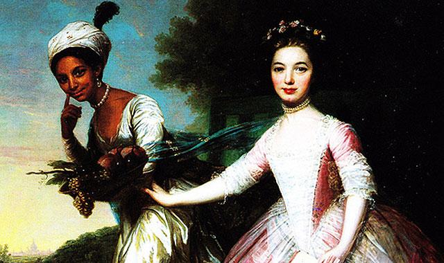 Late 18th–early 19th century painting by unknown artist of Dido Elizabeth Belle, left, and her cousin. Courtesy Wikipedia