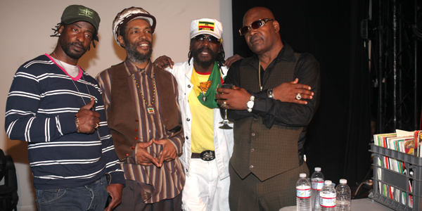 Andrew Wright, Judah Eskender Tafari , Tippa Lee and Josey Wales at the Dub Club
