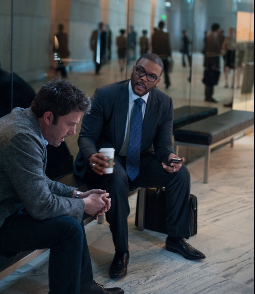 Ben Affleck and Tyler Perry in a scence from Gone Girl Photo by Merrick Morton