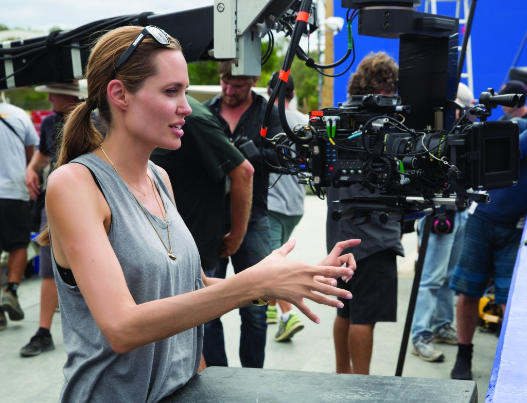 Director ANGELINA JOLIE on the set of Unbroken   Photo Credit- David James