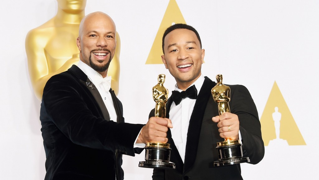 Common and John Legend- Bringing Oscar 'Glory' to 'Selma.' (Photo by Jason Merritt : Getty Images Entertainment).