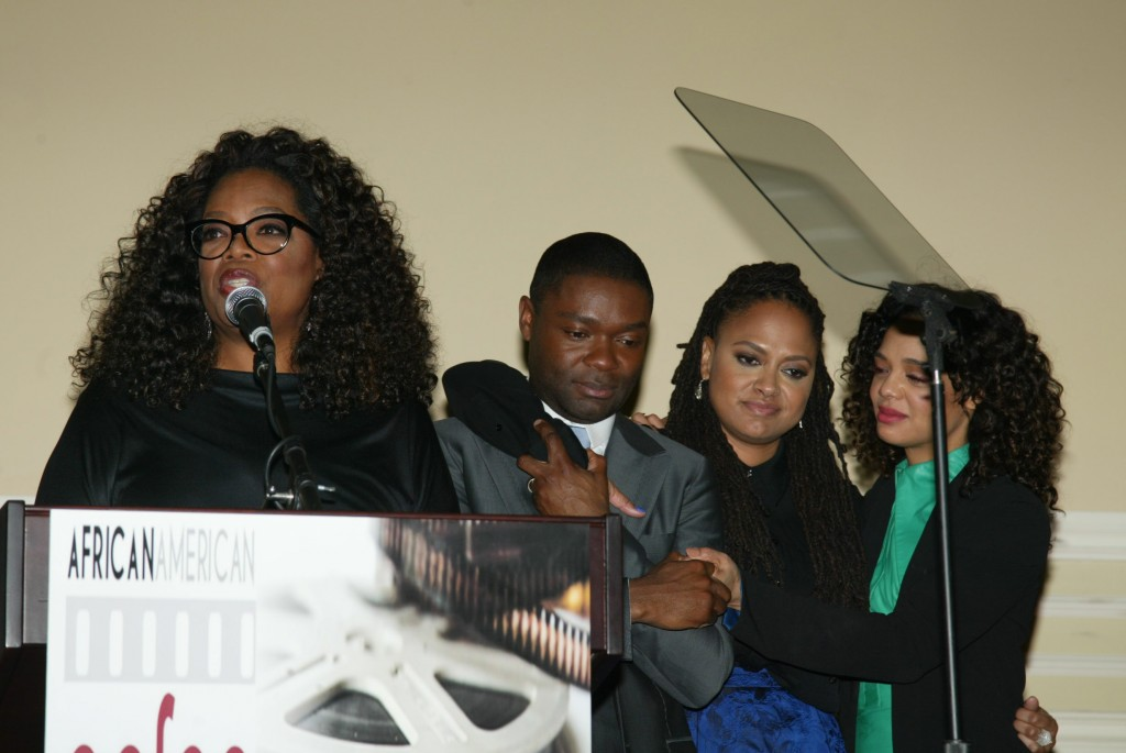 Oprah, David, Ava and Tessa Thompson who plays Diane Nash in movie Selma
