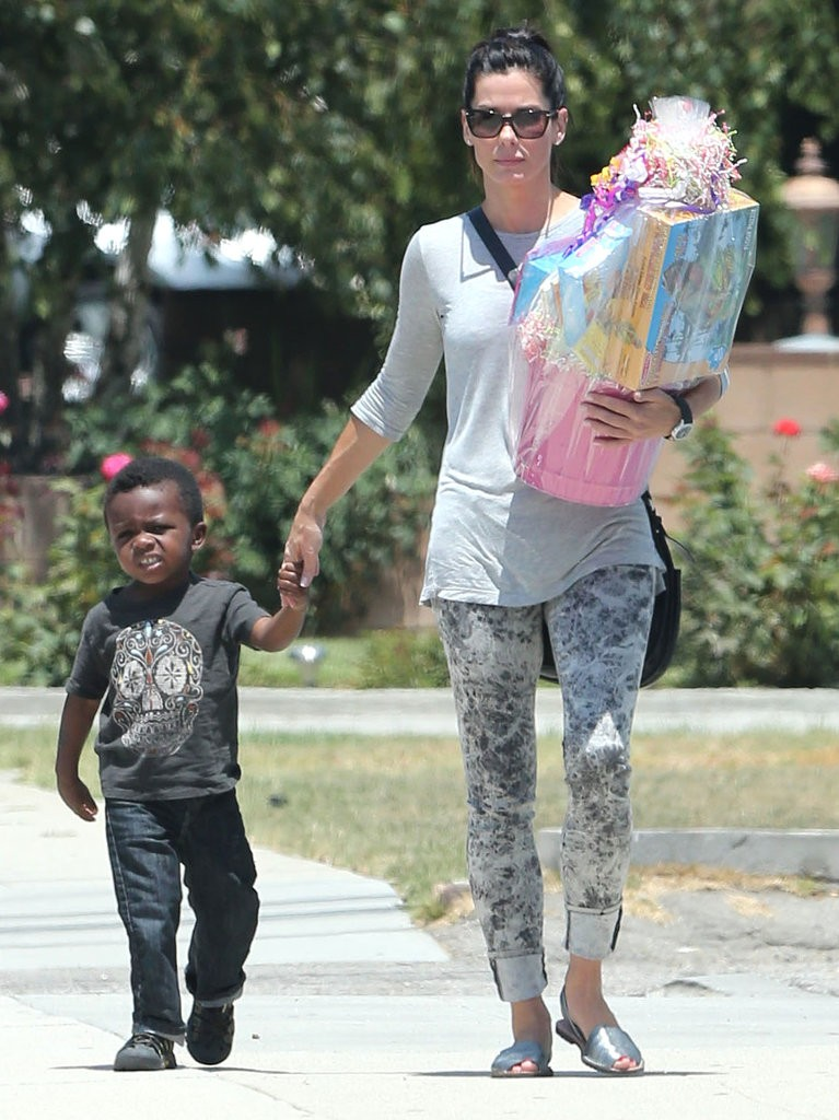 Sandra Bullock and adopted son Louis