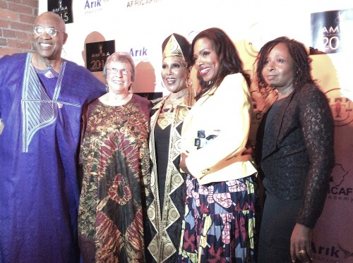 (L-r) Ayuko Babu, Miki Goral,  Ja'net Dubois,  Sherly Lee Ralph and CEO of African Movie Academy Awards AMAA, Peace Anyiam-Osigwe