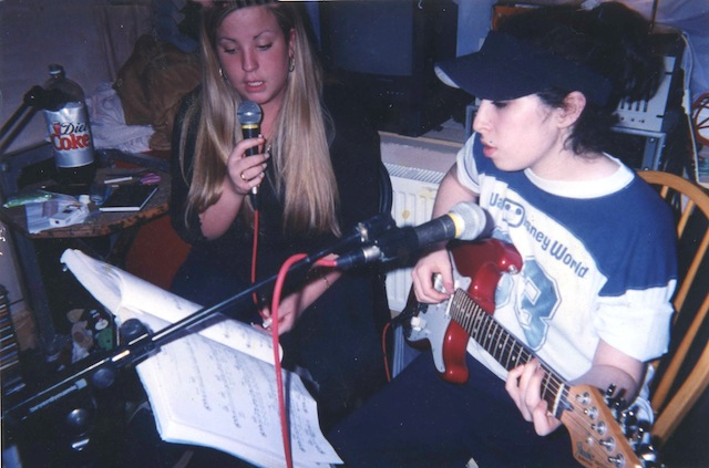 Amy (right) with childhood friend Juliette
