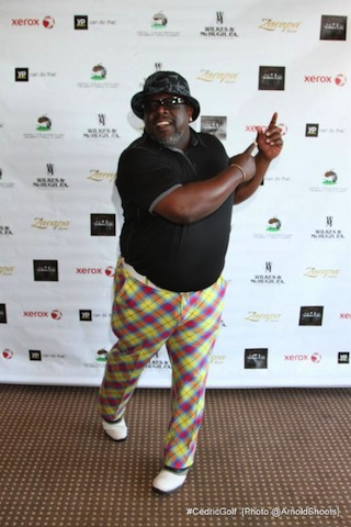 Cedric The Entertainer prepares to tee-off at his 3rd Annual Cedric The Entertainer Celebrity Golf Classic