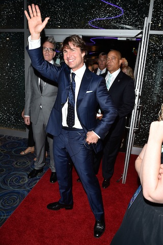 Tom Cruise attends the Canadian Fan Premiere of Mission- Impossible - Rogue Nation at the Cineplex Scotiabank Theater