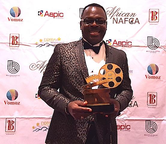 Ken Smart with his best actor award