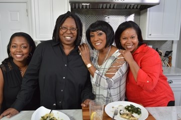 (L-R)- Sonia Armstead, Whoopi Goldberg, Patti LaBelle, and Rochelle Brown