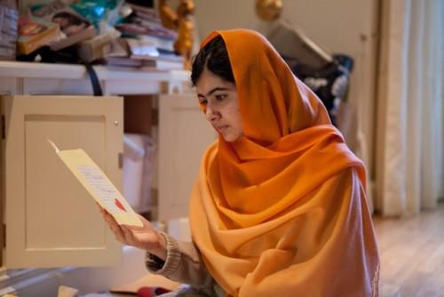 Malala Yousafzai in Birmingham, England. Dec 17, 2013. Photo by Caroline Furneaux