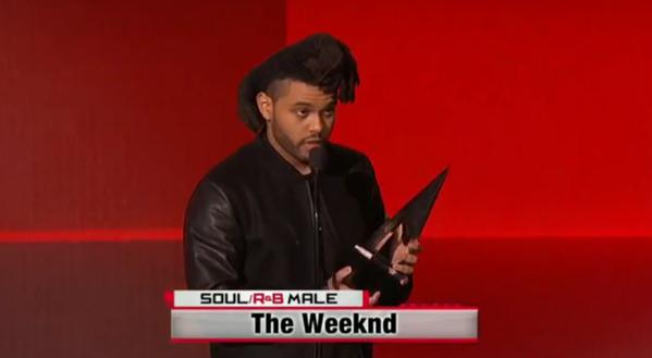 The Weeknd brings home Favorite Male Artist