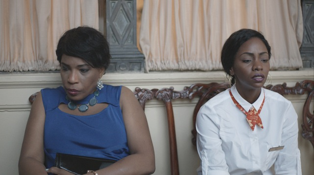 Pictured l-r Macy Gray as aunt Helen and Teyonah Parris as Belle