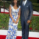 Idris Elba (R) and daugter Isan Elba