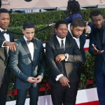 The cast of  Straight Outta Compton on the red carpet