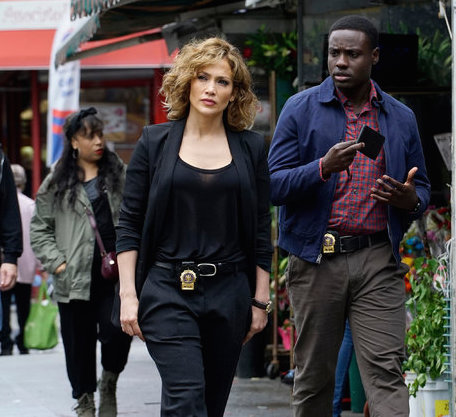 "Jennifer Lopez and Dayo Okeniyi in ""Shades of Blue,"" a new police show beginning Thursday on NBC. Credit NBC"