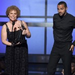 Debra Lee and Jesse Williams