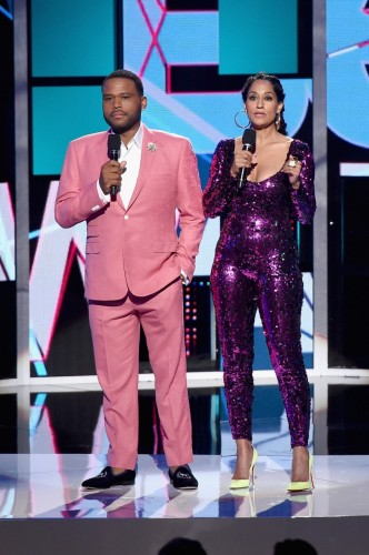 Co-hosts Tracee Ellis Ross and Anthony Anderson