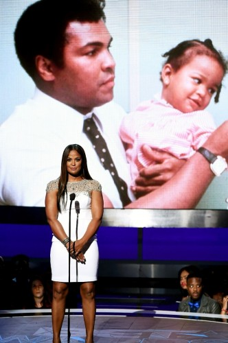 Laila Ali honors her father