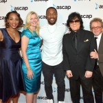 Singer Tank (C) with (L-R) ASCAP SVP of Membership Nicole George Middleton, ASCAP CEO Beth Matthews, ASCAP EVP of Membership John Titta, and ASCAP President & Chairman Paul Williams
