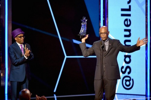 Spike Lee presented Samuel L Jackson with his Lifetime Achievement Award