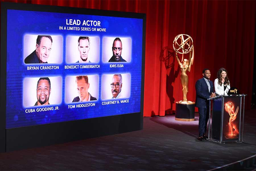 Anthony Anderson and Lauren Graham announced the nominations for the 68th Emmy Awards in the Wolf Theatre at the Saban Media Center