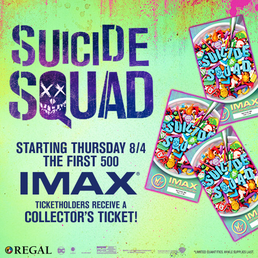 Regal Cinemas promotes Suicide Squad