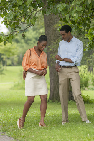 Tika Sumpter and Parker Sawyers in SOUTHSIDE WITH YOU Photo credit - Matt Dinerstein