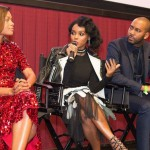 Janelle Monae on stage at Q&A