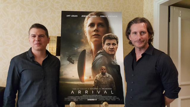 Arrival film producers Dan Levine and Aaron Ryder