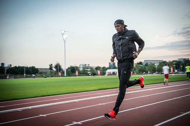Usain runs track in doc I am Bolt
