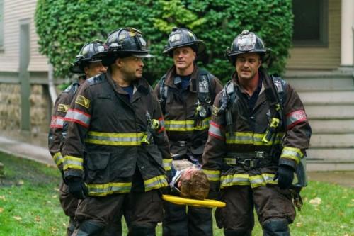(l-r)-  Tony Ferraris as Tony, Joe Minoso as Joe Cruz, Randy Flagler as Capp and Taylor Kinney as Lt. Kelly Severide -- (Photo by- Parrish Lewis:NBC)