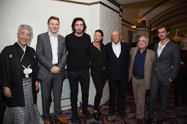 Issey Ogata. Liam Neeson, Adam Driver, Emma Tillinger Koskoff, Irwin Winkler, Martin Scorsese, Andrew Garfield