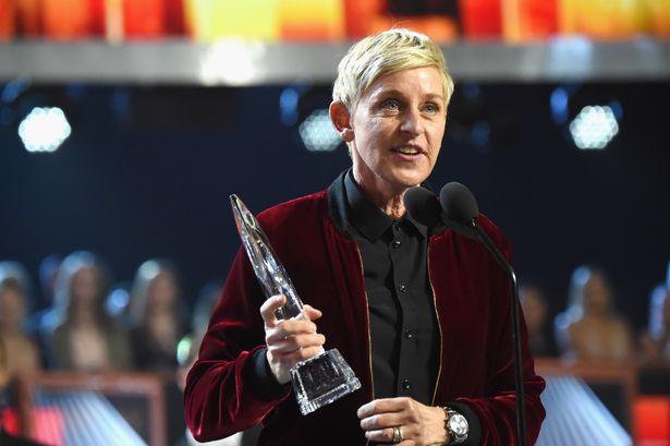 Comedian Ellen DeGeneres accepts an award onstage (Photo- FilmMagic, Inc)