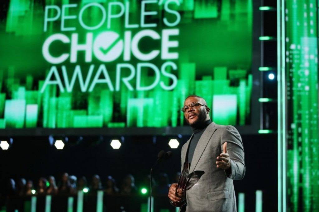 Tyler Perry accepts his award