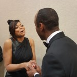 Cornell William Brooks, president and CEO of NAACP congratulates Taraji P. Henson on her 8th Image Award