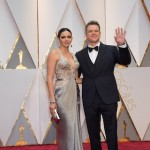 Matt Damon, Oscar® nominee, arrives with Luciana Barroso
