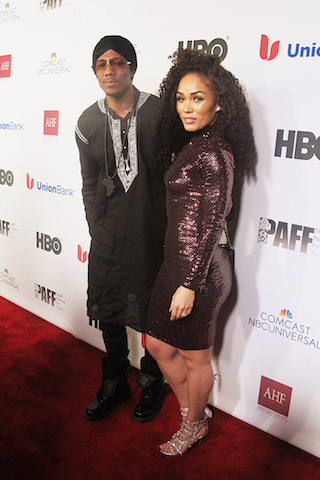 Nick Cannon (left) and Kreesha Turner
