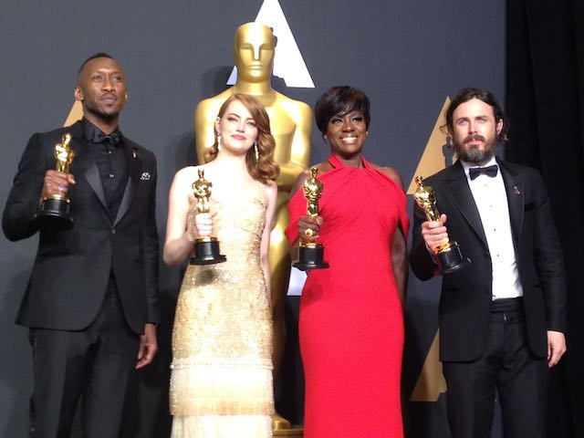 Oscar winners Ali, Stone, Davis and Affleck