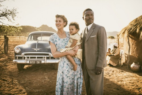Rosamund Pike as Ruth Williams and David Oyelowo as Seretse Khama -  Photo by  Stanislav Honzik.