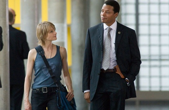 Terrence Howard with Jodie Foster from The Brave One