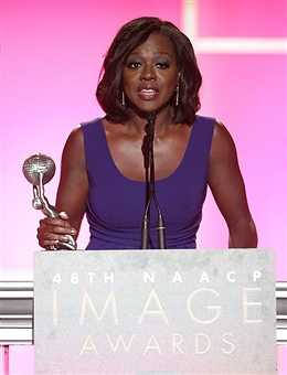 Viola Davis won the best actress award at the 48th NAACP