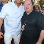 Dwayne Johnson and Bob Bakish