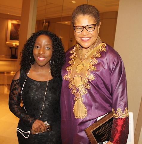 Caribpress Entertainment Editor Samantha Ofole-Prince and Congressmember Karen Bass