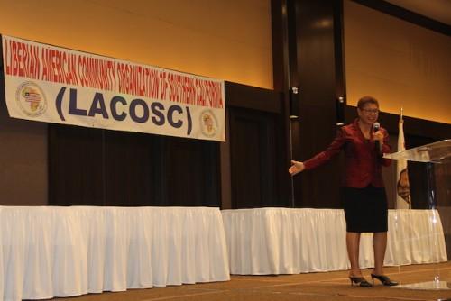 Guest speaker Karen Bass