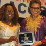 LACOSC Vice President Jartu M. James and Congressmember Karen Bass