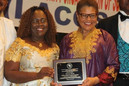 LACOSC Vice President Jartu M. James and Congressmember Karen Bass