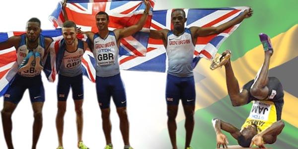 Great Britain win gold - Usain got injured